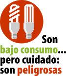 Campaña de prevención con respecto al manipuleo de las lámparas de bajo consumo
