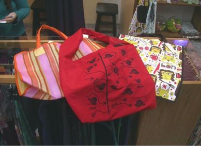 Modernas bolsas para las compras