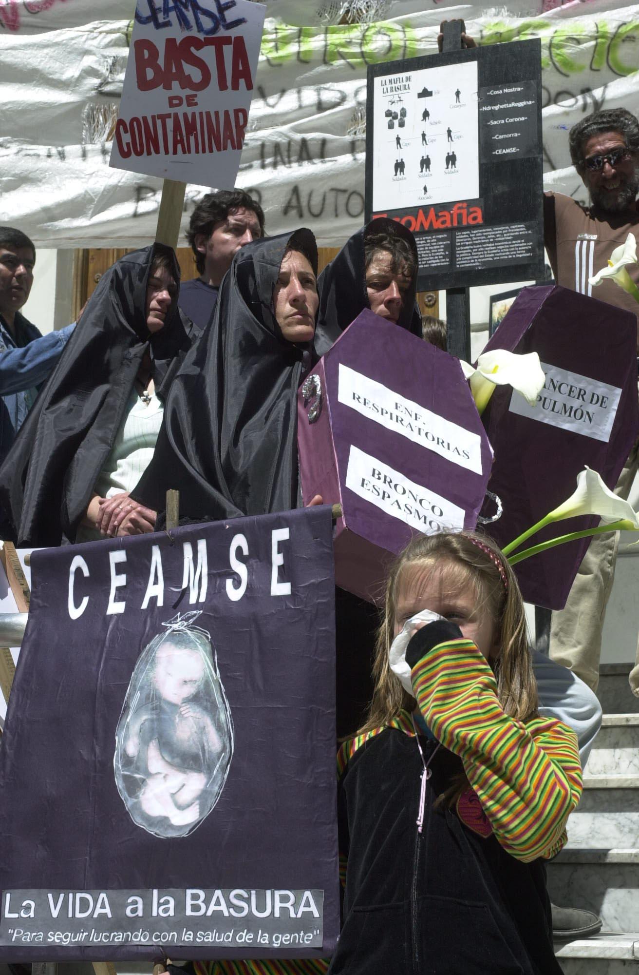 Protesta vecinal contra la CEAMSE