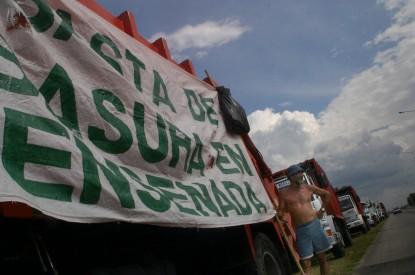 CEAMSE: protesta de enero de 2005