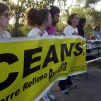 Protesta frente al CEAMSE, 14-04-07